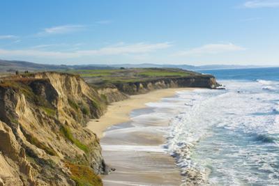 Beach cliffs of Half Moon Bay, California by Bill Bachmann