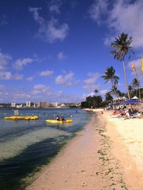Beaches and Hotels along Tumon Bay, Guam, USA by Bill Bachmann