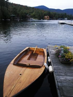 Boating at Whiteface Marina in the Adirondack Mountains, Lake Placid, New York, USA by Bill Bachmann