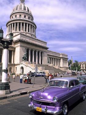 Classic 1950's Auto at Havana Capitol, Havana, Cuba by Bill Bachmann