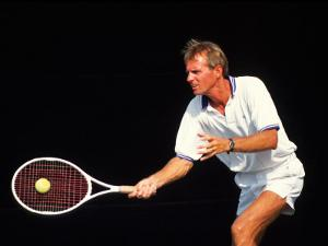 Close-up of Man Playing Tennis by Bill Bachmann