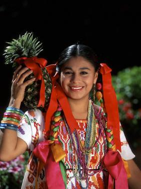 Colorful Dancer, Tourism in Oaxaca, Mexico by Bill Bachmann