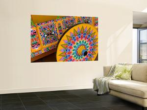 Colorful Wheel For Carriages, Costa Rica by Bill Bachmann