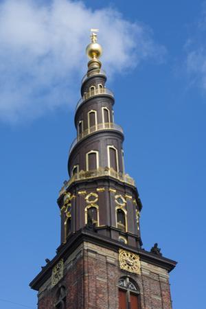 Copenhagen, Denmark, St Annes Church of Our Savior with Steeple