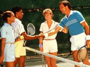 Couples Playing Tennis Together by Bill Bachmann