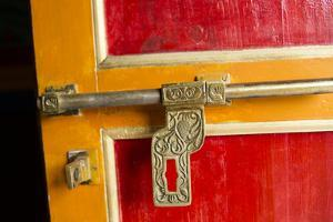 Door Detail at Khumbjung Solukhumbu, Mt Everest, Himalayas, Nepal by Bill Bachmann