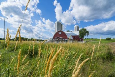 Eau Claire, Wisconsin, Farm and Red Barn in Picturesque Farming Scene by Bill Bachmann
