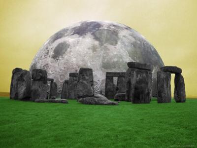Full Moon over Stonehenge, England by Bill Bachmann