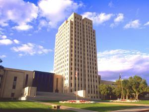 Government Tower Building, Bismarck, North Dakota by Bill Bachmann