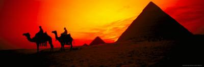 Great Pyramids of Giza at Sunset, Egypt by Bill Bachmann