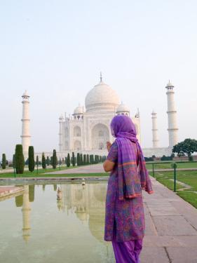 Hindu Woman at Taj Mahal, Agra, India by Bill Bachmann