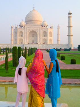 Hindu Women with Veils in the Taj Mahal, Agra, India by Bill Bachmann