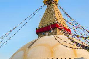 Kathmandu Nepal Boudhanath Stupa at the Famous Religious Temple by Bill Bachmann
