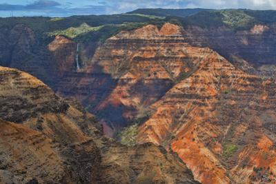 Kauai, Hawaii. Scenic Waimea Canyon State Park red cliffs from above canyon by Bill Bachmann