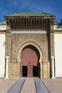 Meknes, Morocco, Exterior of Mausoleum of Mouley Idriss by Bill Bachmann