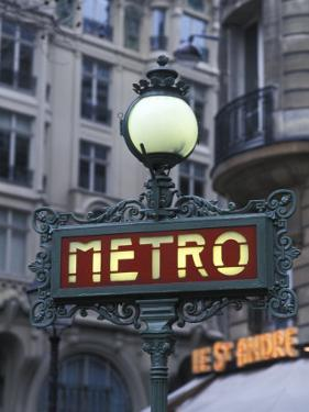 Metro Signage in Paris, France by Bill Bachmann