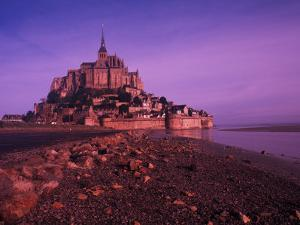 Mont St. Michel Fortress, Normandy, France by Bill Bachmann