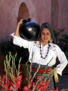 Native Woman, Tourism in Oaxaca, Mexico by Bill Bachmann