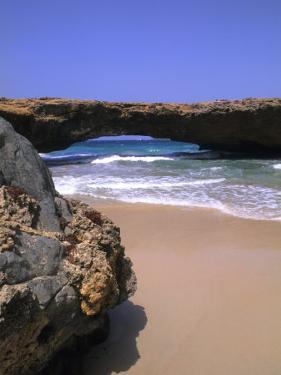 Natural Beach Bridge, Aruba, Caribbean by Bill Bachmann