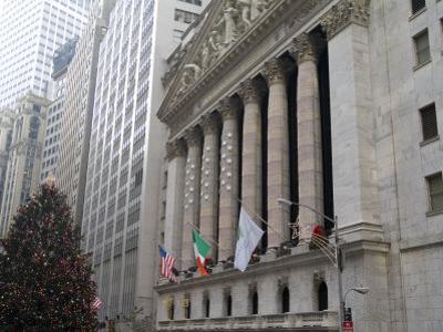 New York Stock Exchange at Christmas, New York City, New York, USA by Bill Bachmann