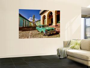 Old Worn 1958 Classic Chevy, Trinidad, Cuba by Bill Bachmann