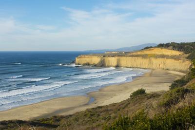 Pacific Coast Highway 1, California, below Pebble Beach, Carmel cliffs and waves by Bill Bachmann