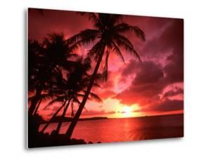 Palms And Sunset at Tumon Bay, Guam by Bill Bachmann