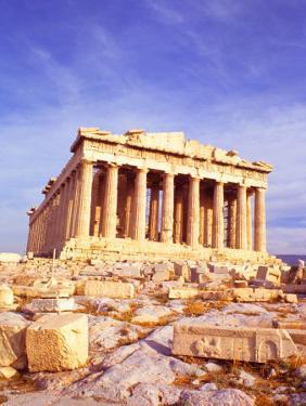 Parthenon on Acropolis, Athens, Greece by Bill Bachmann