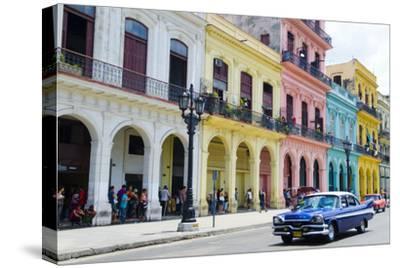 Pastel Buildings Near City Center, Havana, Cuba