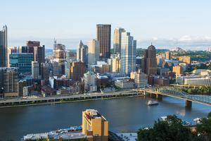 Pittsburgh, Pennsylvania, Downtown City and Rivers at Golden Triangle by Bill Bachmann