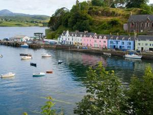 Port and Sailboats in Village of Portree, Isle of Skye, Western Highlands, Scotland by Bill Bachmann