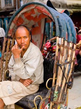 Portrait of Rickshaw Driver, Jaipur, Rajasthan, India by Bill Bachmann