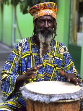 Rasta Jamaican Reggae Performer, St. John, Antigua by Bill Bachmann