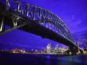 Skyline and the Harbor Bridge, Sydney, Australia by Bill Bachmann