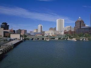Skyline, Genessee River, Rochester, New York by Bill Bachmann
