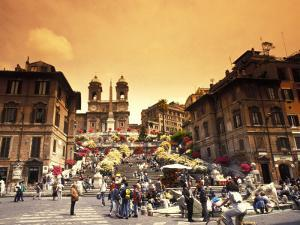 Spanish Steps in Rome, Italy by Bill Bachmann