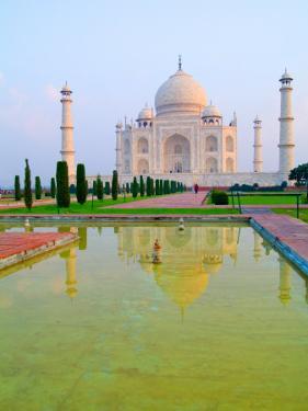 Taj Mahal Temple at Sunrise, Agra, India by Bill Bachmann