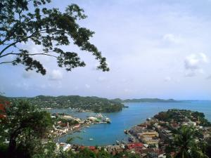View from Mountain of St. Georges, Grenada, Caribbean by Bill Bachmann