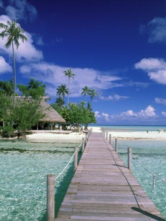 Walkway, Tahiti, French Polynesia, Oceania by Bill Bachmann