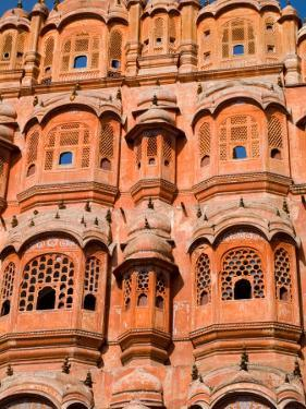 Wind Palace in Downtown Center of the Pink City, Jaipur, Rajasthan, India by Bill Bachmann