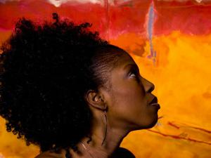 Woman's Colorful Profile, Cameroon by Bill Bachmann