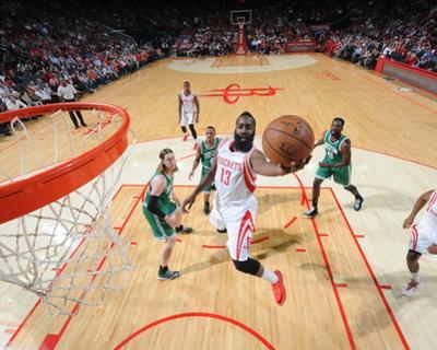 Boston Celtics v Houston Rockets by Bill Baptist