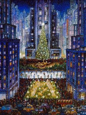 Rockefeller Center 2 Blue by Bill Bell