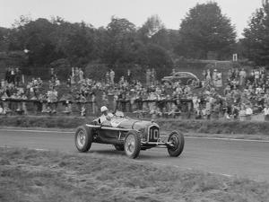 Alfa Romeo Monza of Kenneth Evans racing at Crystal Palace, London, 1939 by Bill Brunell