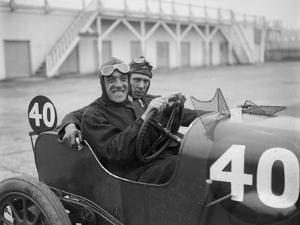 BS Marshall in his Aston Martin at the JCC 200 Mile Race, Brooklands, Surrey, 1921 by Bill Brunell