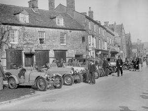 Bugattis at a Bugatti Owners Club meeting, Broadway, Worcestershire, 1937 by Bill Brunell