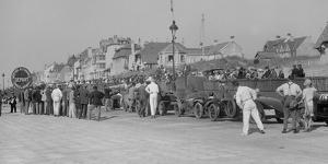 Cars on the seafront at Le Touquet, Boulogne Motor Week, France, 1928 by Bill Brunell