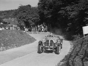 Frazer-Nash BMW 319 - 55 of CG Fitt competing in the VSCC Croydon Speed Trials, 1937 by Bill Brunell