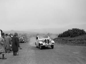 Frazer-Nash BMW 319 of D Impanni competing in the South Wales Auto Club Welsh Rally, 1937 by Bill Brunell