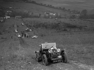 Lagonda Rapier competing in the London Motor Club Coventry Cup Trial, Knatts Hill, Kent, 1938 by Bill Brunell